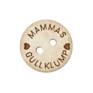 Knapp Mammas Gullklump 15mm