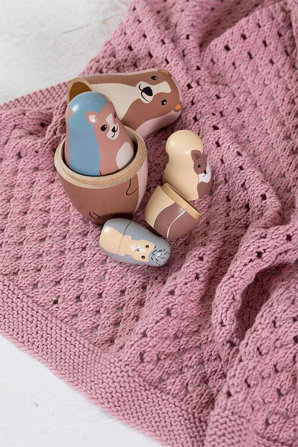 396-07 Minsten babyteppe rose